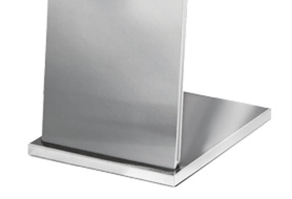 Edelstahl Prospektständer A4 OTTAWA - Bodenplatte