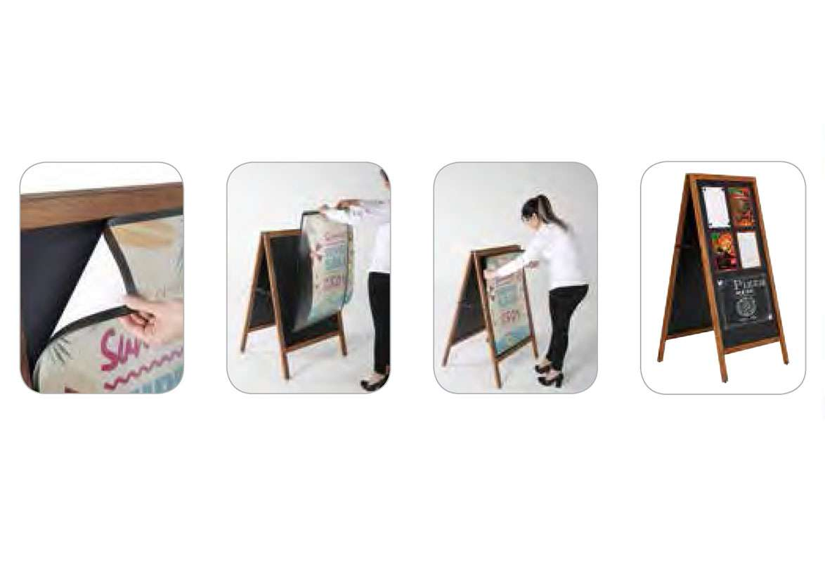 Holz Plakatständer A1 MINNEAPOLIS - Plakatwechsel