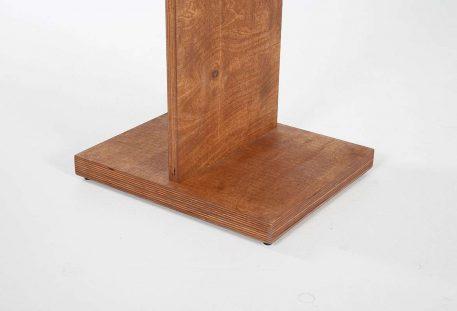 Holz Prospektständer A4 BALTIMORE - Fuß holzfarben