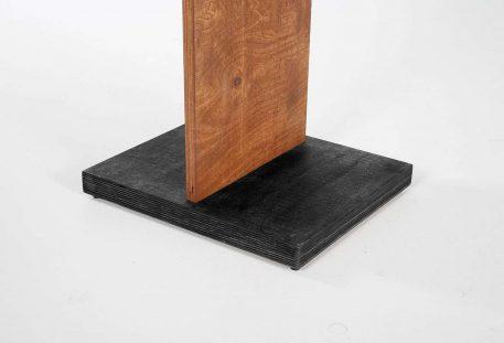 Holz Prospektständer A4 BALTIMORE - Fuß schwarz