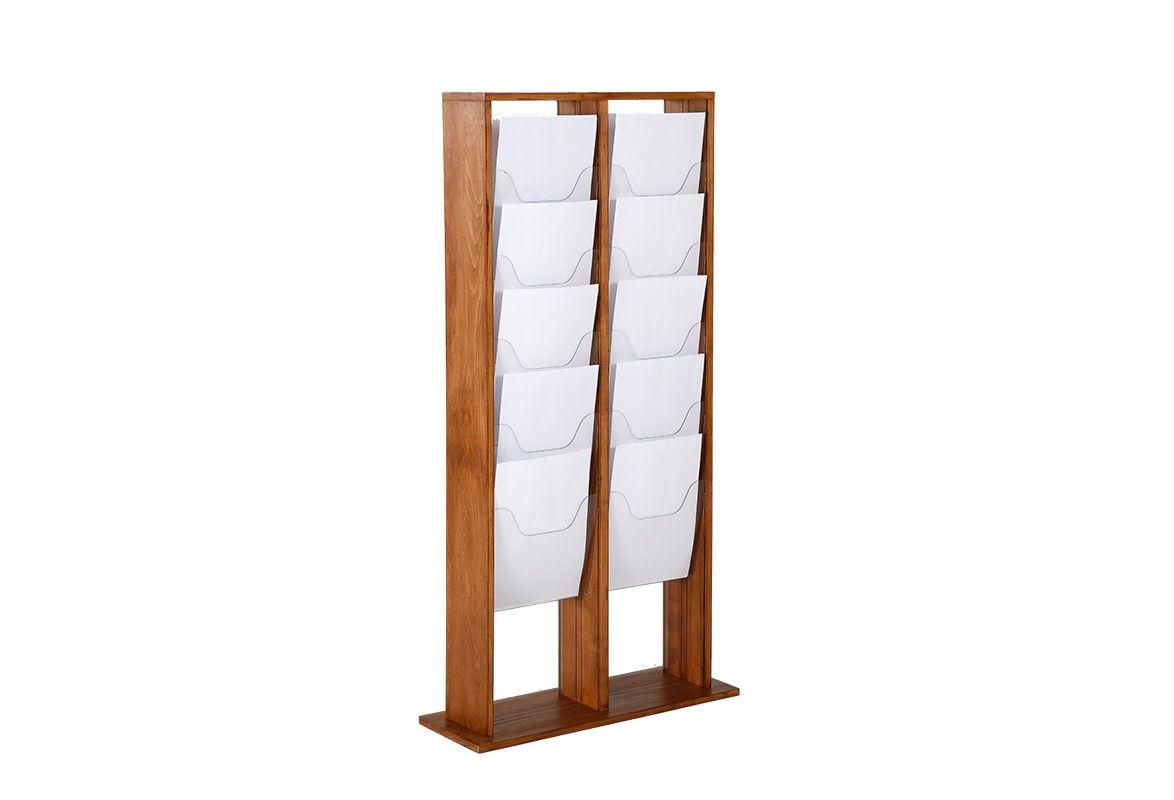 Holz Prospektständer A4 LOUISVILLE – 20 Fächer
