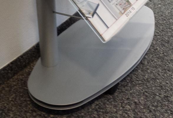 Prospektregal A4 LUBBOCK - Bodenplatte