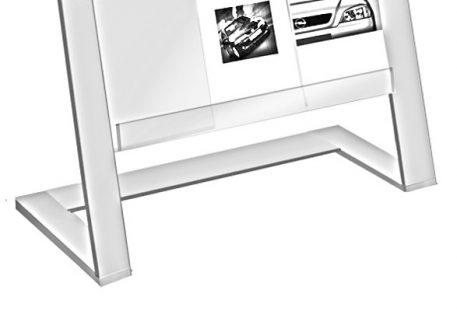 Prospektständer A4 CLEVELAND - Skizze