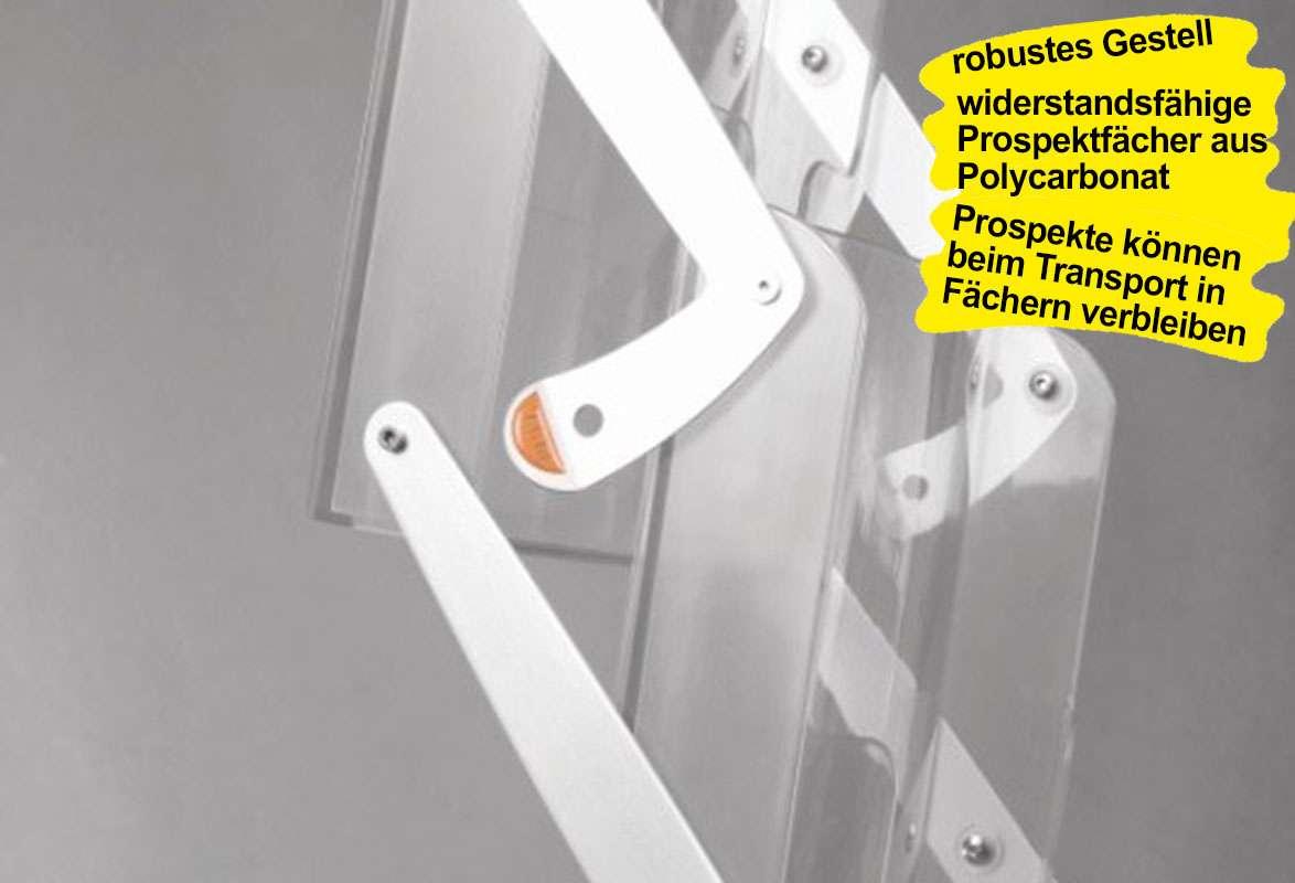 Prospektständer faltbar A4 DALLAS - Verriegelung