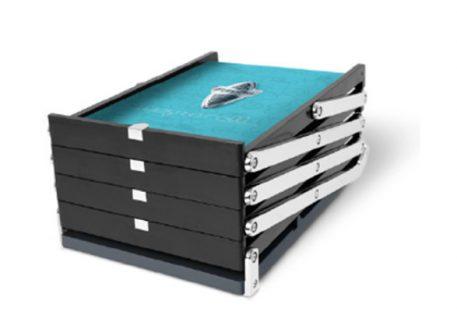 Prospektständer faltbar A4 EXPAND BrochureStand - zusammengeklappt