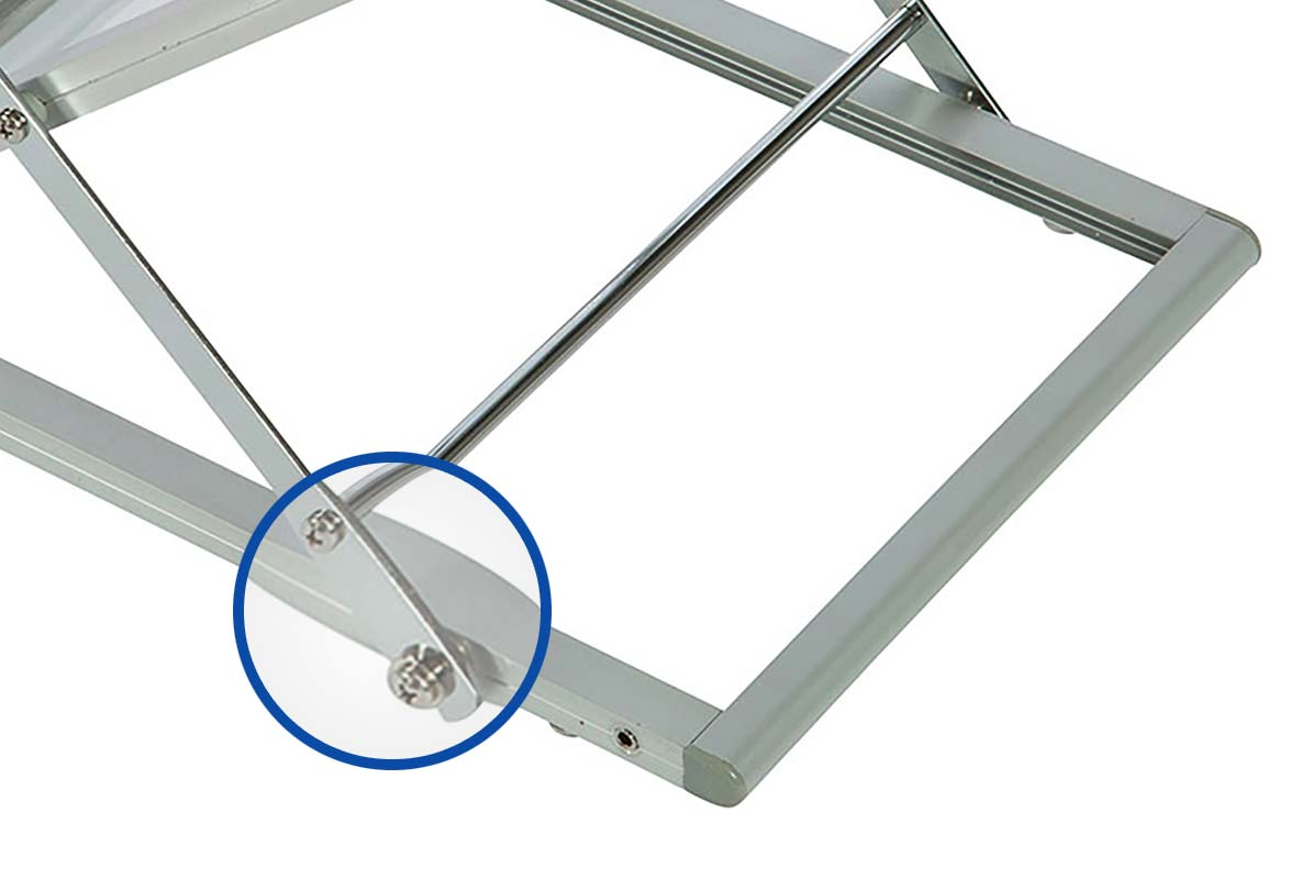 Prospektständer faltbar A4 KONGRESS - Verriegelung