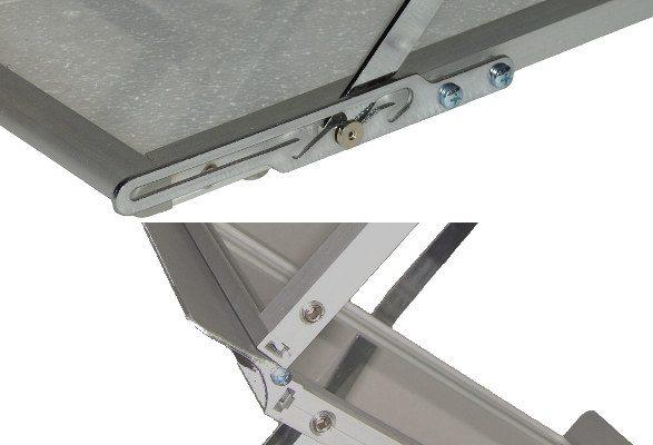 Prospektständer faltbar A4 Querformat FONTANA Detail