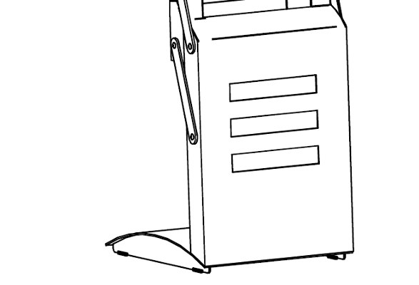 Prospektständer faltbar A4 SEATTLE - Standfuß