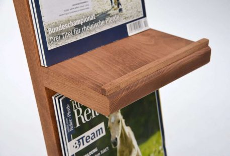 Prospektständer Holz A4 INDIANAPOLIS - Prospektablage