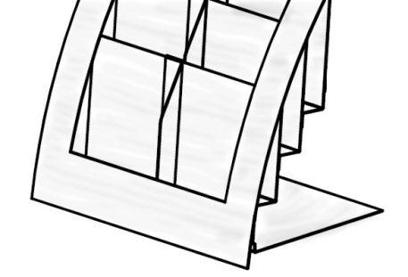 Tisch Prospektständer FREMONT - Skizze