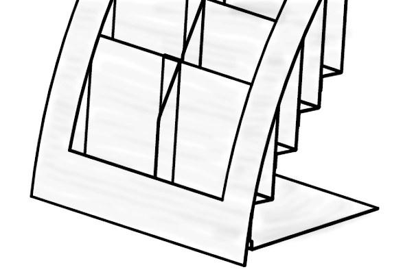 Tisch Prospektständer IRVING - Skizze