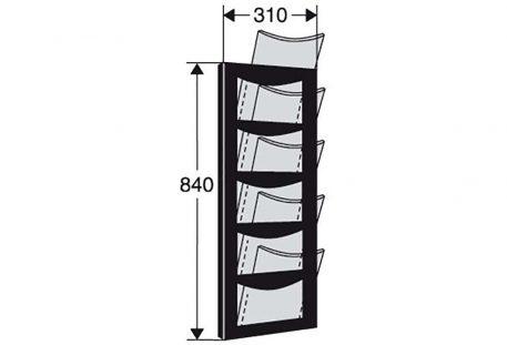 Wandprospekthalter A4 TULSA - Maße