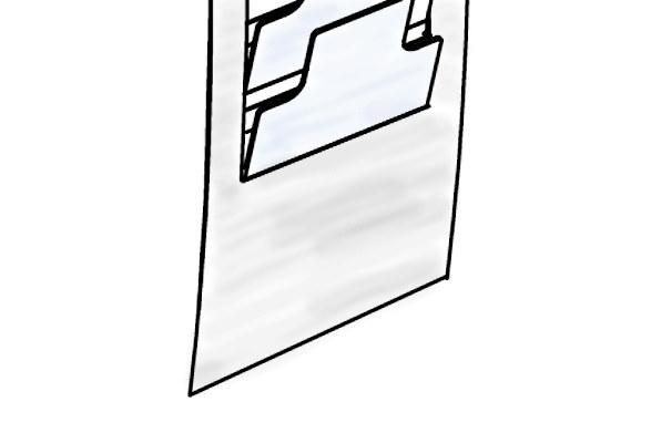 Wandprospekthalter AKRON - Logofläche
