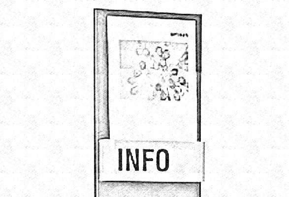 Wandprospekthalter COLUMBUS - Skizze