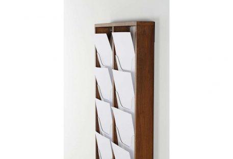 Wandprospekthalter Holz A4 MEMPHIS - Gestell